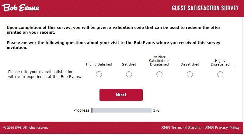 Bobevanslistens smg survey