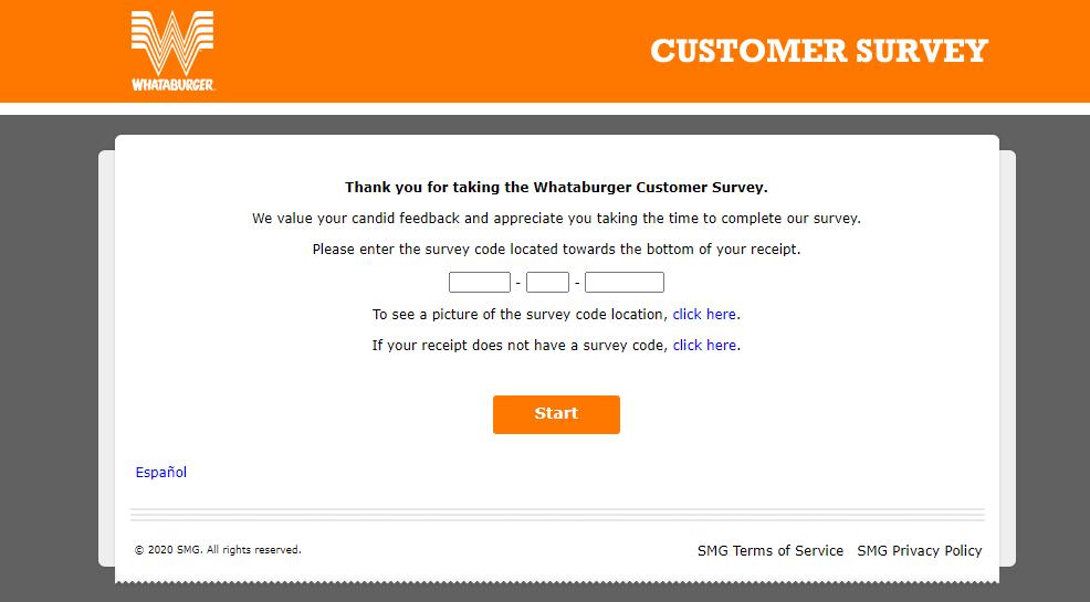 Take WhatABurger online survey at WhatABurgervisit