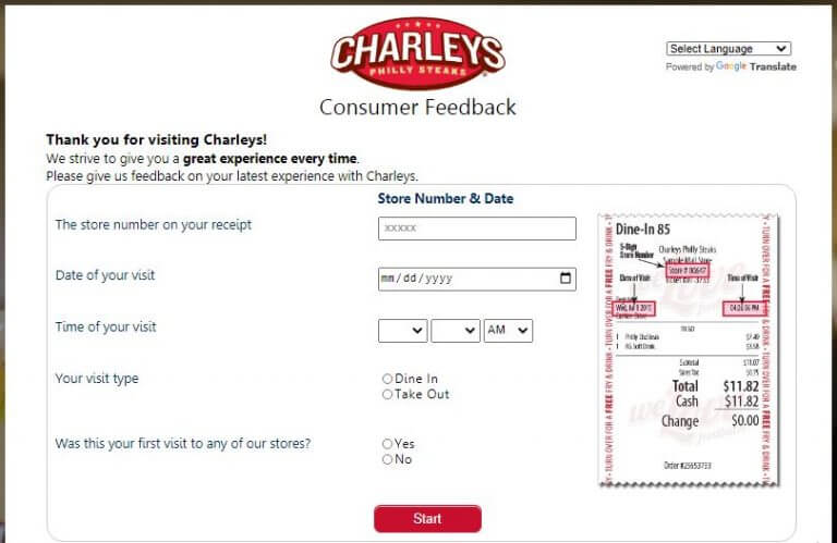official website of Charleys Survey