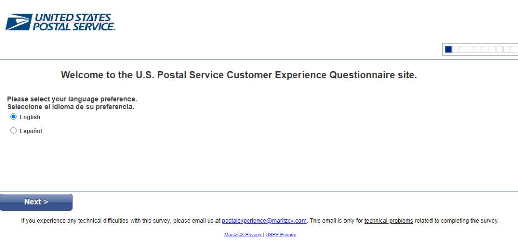 USPS Customer Experience Survey